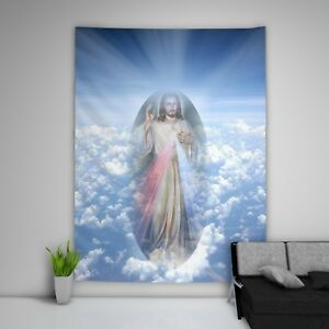 Jesus Christ Tapestry Art Wall Hanging Sofa Table Bed Cover Home Decor