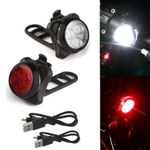 Cycling-Bike-Front-Light-USB-Rechargeable-Tail-Bright-Waterproof-Light-Lamp-Chic