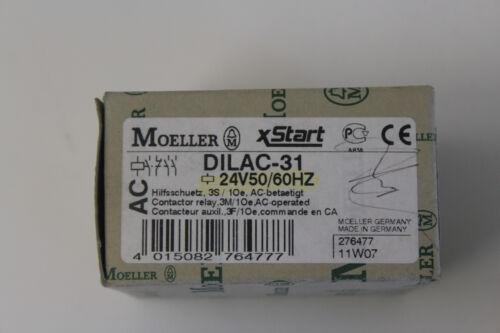 1Oe Nr 542//48 Moeller Hilfsschütz DILAC-31 24V 50//60Hz 3S