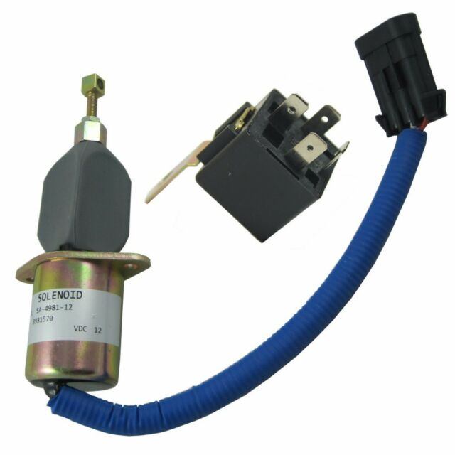 Fuel Shut Off Solenoid 5016244AA with Relay For 94-98 5 9L Dodge Diesel  Cummins