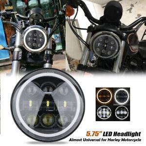 5-75-034-LED-Projecteur-Phare-Hi-Lo-Faisceau-Clignotant-DRL-pour-Harley-Davidson