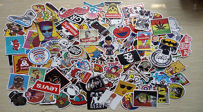 50-150 random vinyl decal stickerbomb laptop waterproof stickers skate UK