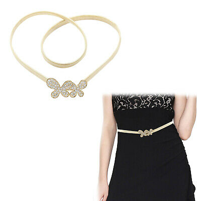 100% Vero Da Donna Diamante Cintura Fascia Oro Regolabile Per Ragazze Gioielleria Accessorio-mostra Il Titolo Originale