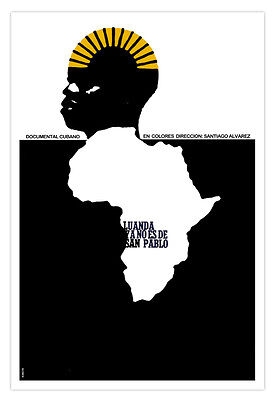 "Spanish movie Poster 4 film/""LUANDA isn/'t San Pablo/""African Continent Apartheid"