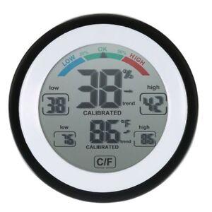 Numerique-LCD-Affichage-Thermometre-Interieur-Hygrometre-Rond-Sans-Fil-elec-O7G1