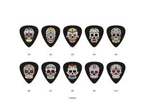 Sugar-Skull-Guitar-Pick-Set-3-10pcs-BUY-2-SAME-GET-THE-3RD-FREE