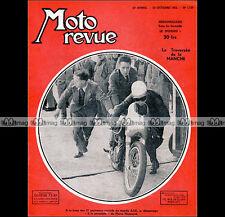 MOTO REVUE N°1107 PIERRE GEORGES MONNERET TRAVERSEE MANCHE VESPA GUZZI 500 1952