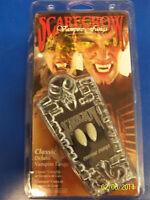Classic Fangs Scarecrow Vampire Teeth Custom Fit DLX Halloween Costume Accessory