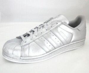 Details about ADIDAS ORIGINALS SUPERSTAR Clamshell RARE Shoes Womens SILVER Metallic BB8139