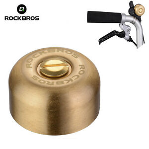 RockBros Bicycle Handlebar Ring Bell Copper Horn Bell for Folding Bike Silver