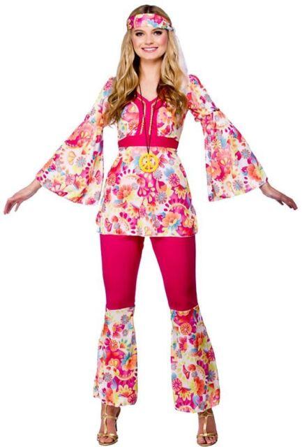 e096de3e0a16 Hippie Honey Large UK 18-20 Plus Size Fancy Dress 60s Hippy Ladies ...
