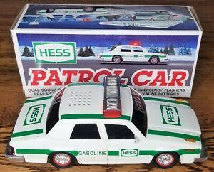 Vintage 1993 Hess Patrol Car Collectible Toys Siren Alert Lights Flasher Nib Ebay