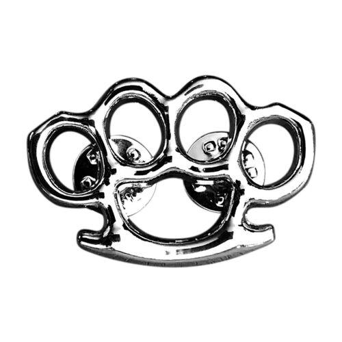 Brass Knuckles JACKET VEST PEWTER MC 1.5 inch charm MC BIKER PIN MP3