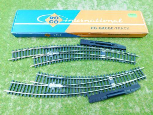 E04 Roco H0 4514 4515 Weichenpaar 2x Bogenweiche OVP