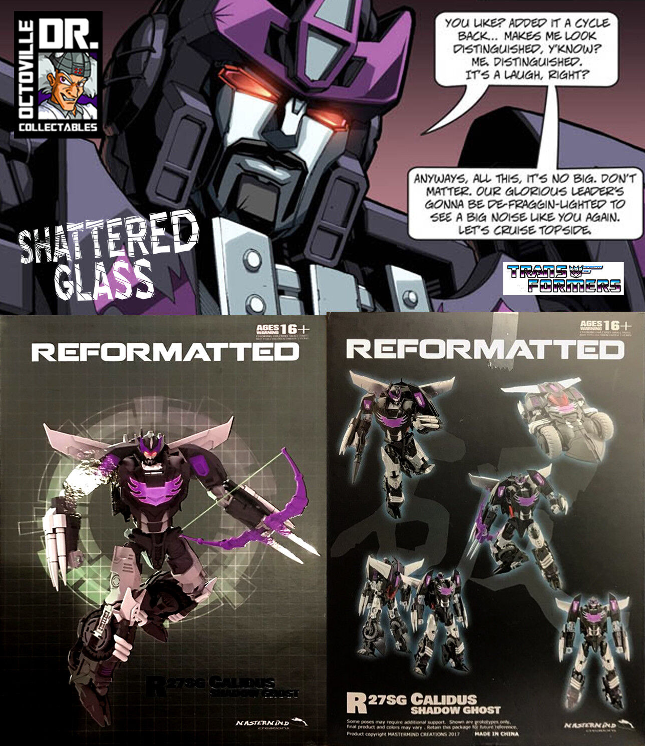 Transformers MMC R-27G Shadow Ghost calidus shatterouge glass Rodimus Prime Neuf