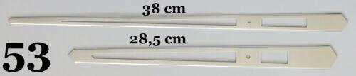 Quarz-Uhrwerk Lange extra lang Riesig groß Uhrzeiger Satz Silber 38 cm # 53XXL