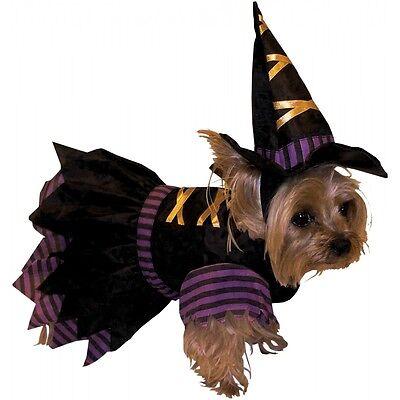 Witch Doggie Costume Pet Witch Dog Halloween Fancy Dress