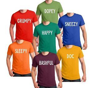 Image Is Loading Disney 7 Dwarfs T Shirt Dwarf Matching Group