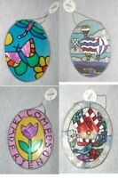 Stained Glass Suncatcher Bluebird/welcome Friends Tulip Butterfly Free Shipping