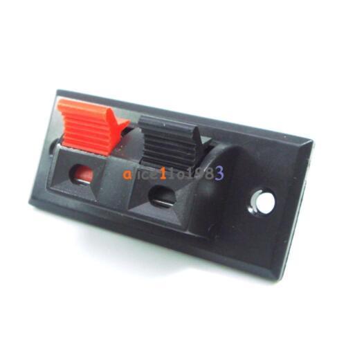2P 4P 6P Way Audio Speaker Terminal Double Spring Clip Jack Plug Socket Switch