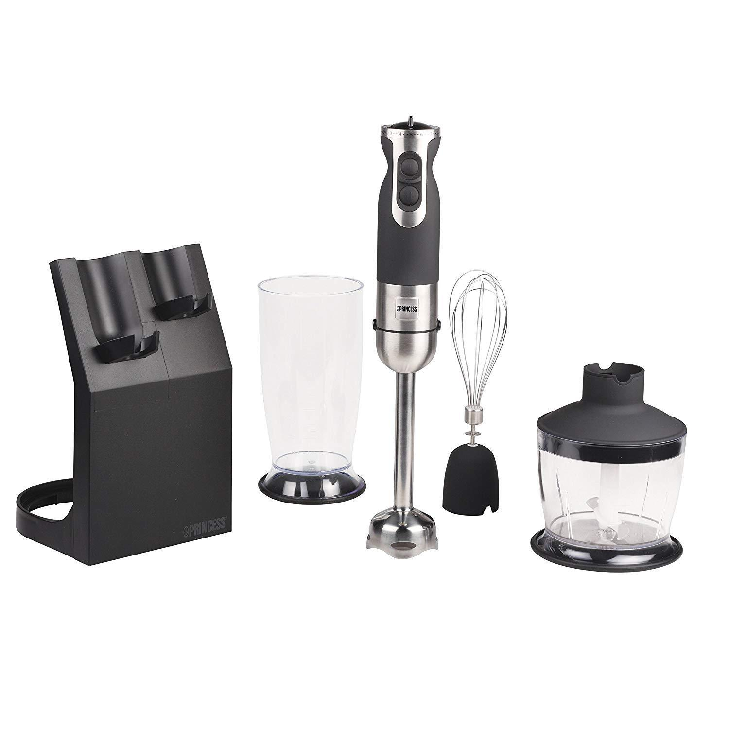Blender Hand Grinder with Accessory Dough Stainless Steel 600 W Princess