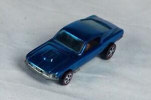 Restored-Hot-Wheels-Redline-1968-Custom-Mustang-Lt-Blue