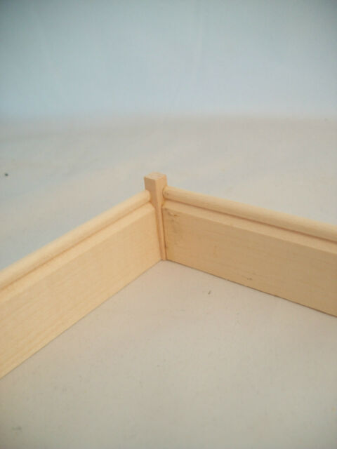 "Crown Molding Corner Block 1//2/""  10pc MW1039 basswood trim molding 1//12 scale"