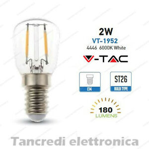 Lampadina-led-V-TAC-2W-25W-E14-bianco-freddo-6000K-VT-1952-ST26-filamento-bulb