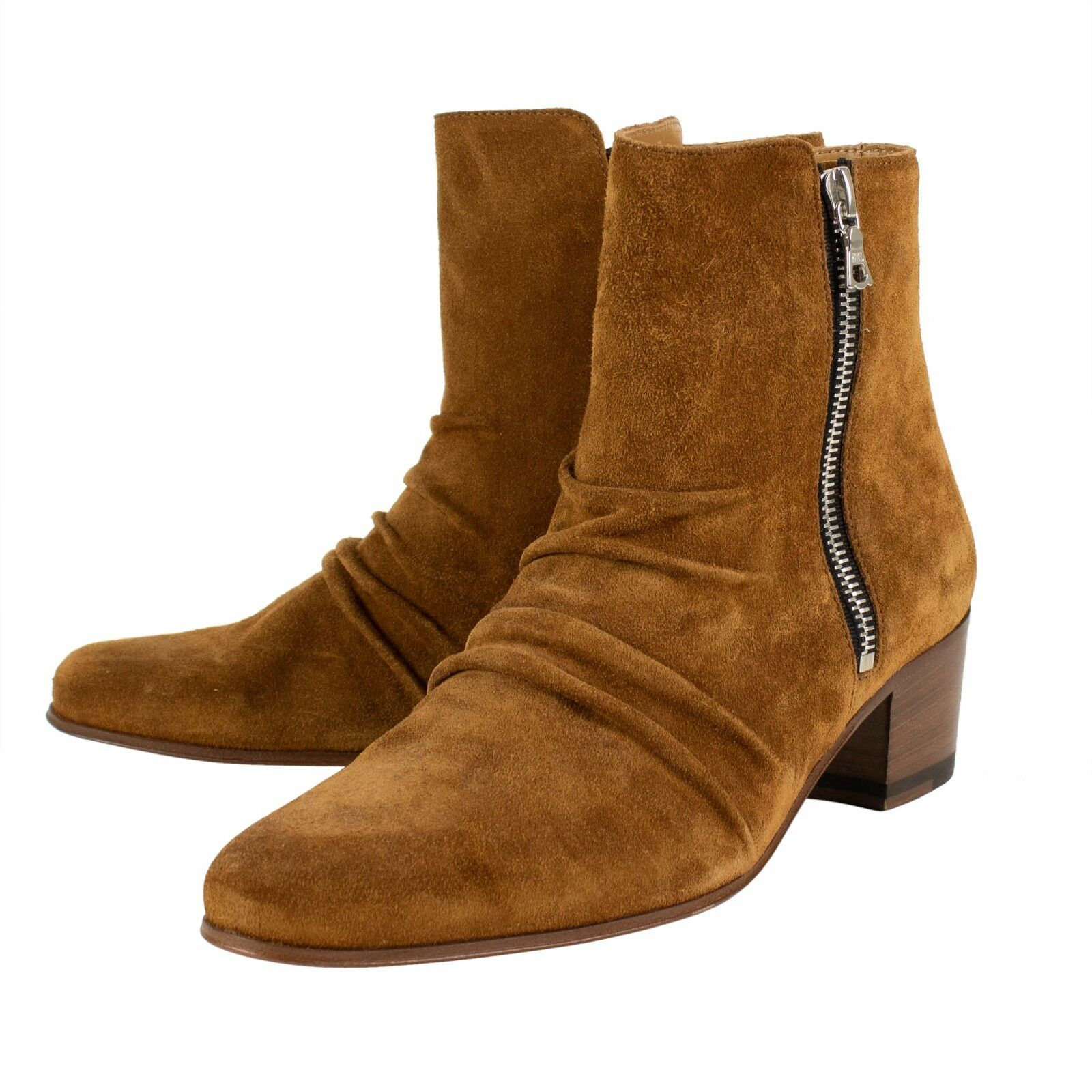 NIB AMIRI 'Stack Boot' Brown Suede Boot shoes shoes shoes Size 8 US 38 EU  995 563ed8