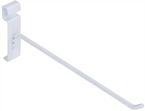 """8/"""" Wire Slat Grid Hooks Hook Pegs Gridwall 50 White 3/"""" On Center Retail Display"""