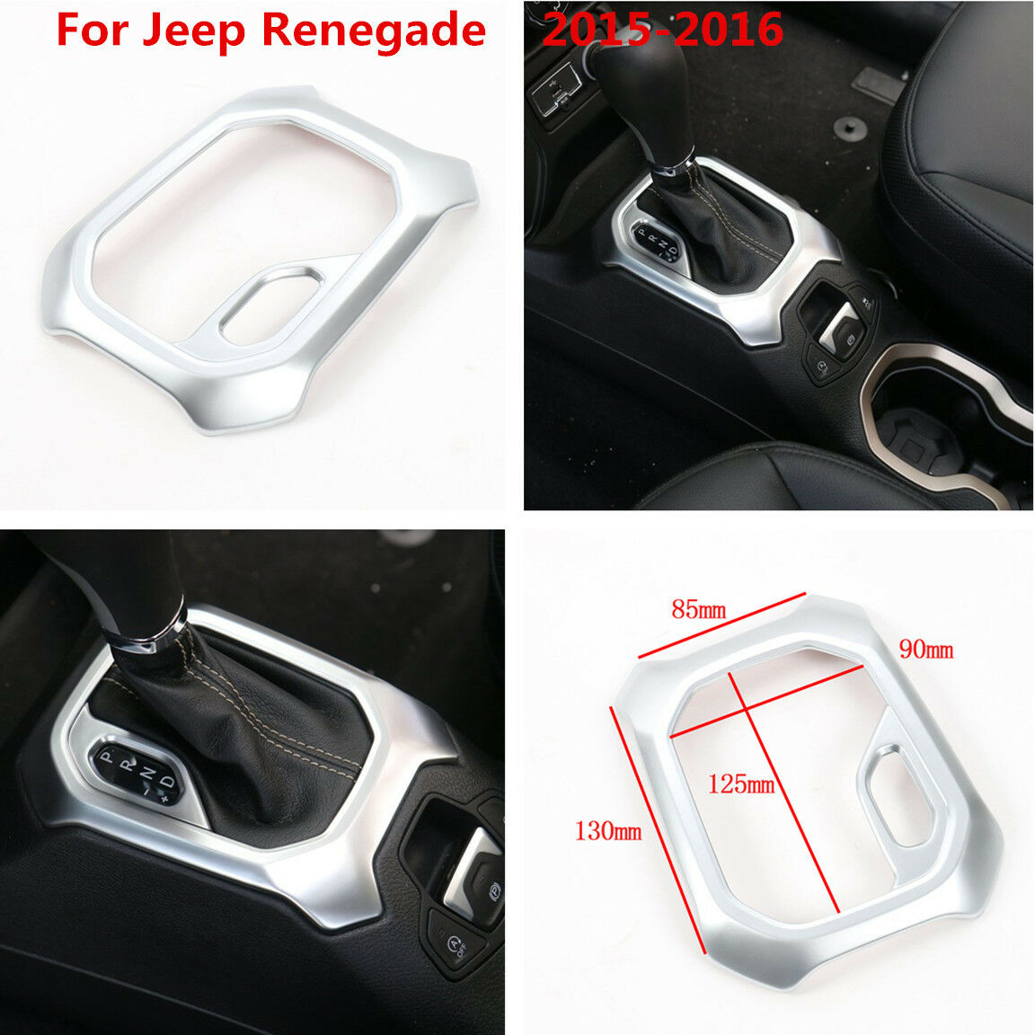 Car Interior Accessories Gear Trim Shift Panel Frame For Jeep Renegade 2015-2016