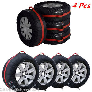 4xCar-SUV-Spare-Wheel-Tyre-Protection-Cover-Carry-Tote-13-034-19-034-Tire-Storage-Bags