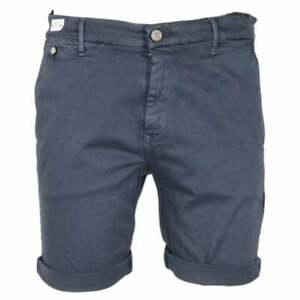 Replay-Coton-Bleu-Marine-Short-Chino