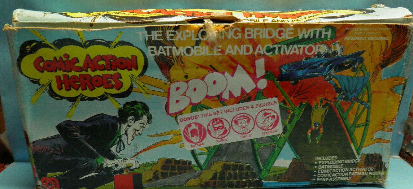 1976 Mego Comic Action Heroes  Bathomme Exploding Bridge Playset Bonus Figures  vente en ligne