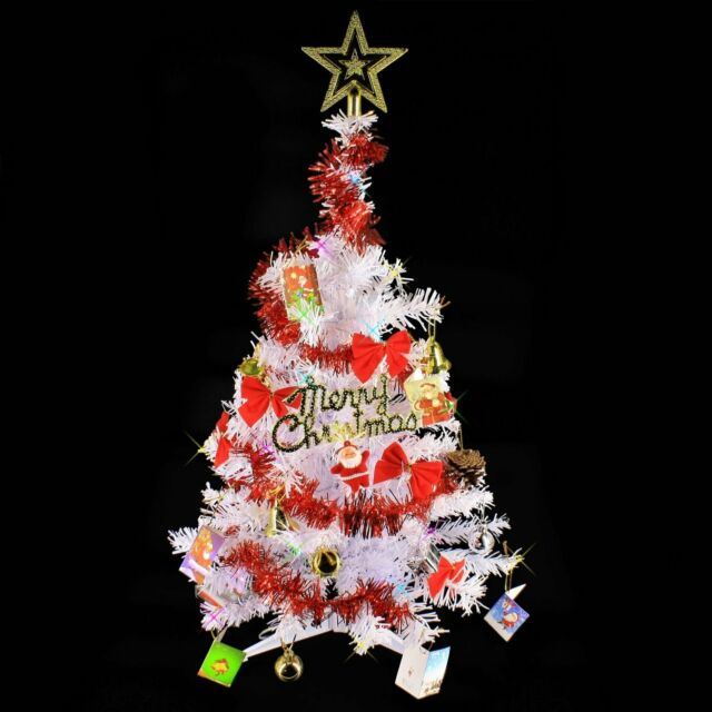 2 Ft White Christmas Tree: 2 FT Artificial Small Mini Tabletop Christmas Tree White W