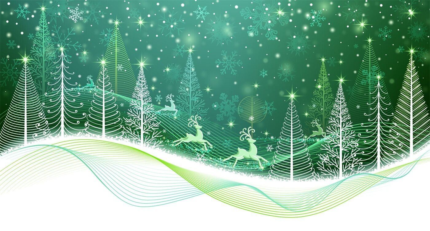 3D Shiny Christmas tree Wall Paper wall Print Decal Wall Deco Indoor wall Mural