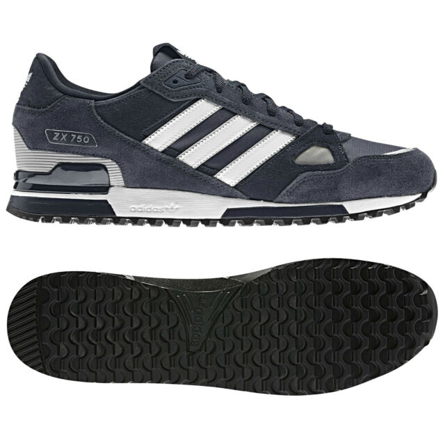 6681106d0e6 adidas ORIGINALS MENS ZX 750 UK SIZE 7-11 BLUE RUNNING TRAINERS SHOES NEW