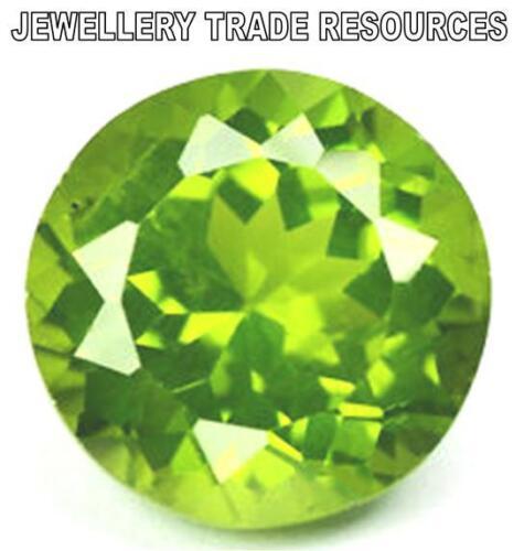 1.75mm Redondo Natural Verde Peridoto Piedra Preciosa Gema