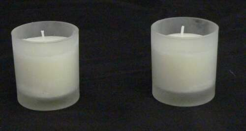 8hr Votive White Wax Candle Marriage Ceremony 84 Frosted Glass Tealight Holder