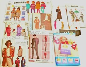 Lot-9-Sewing-Patterns-VINTAGE-McCalls-Butterick-Vogue-Simplicity-Women-Kids
