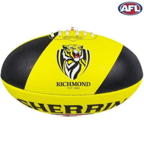 AFL Footy Richmond Tigers Sherrin Synthetic Football Size 5