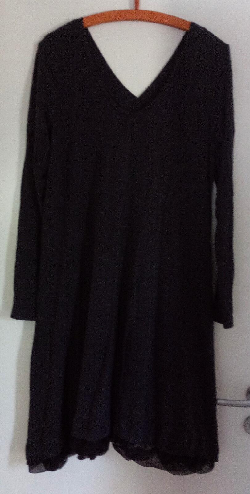 LAUREN VIDAL robe Größe XL (42 44 46) Blau-Drave NP   BW 46 cm