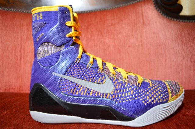 sports shoes c0949 385bf CLEAN Nike KOBE Bryant ELITE 9 IX Team Collection LAKERS Showtime Size 11