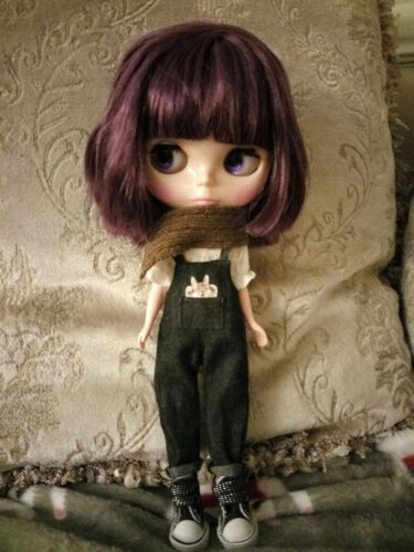 "12/"" Neo Blythe Doll Short Purple Hair Matte FaceNude Doll from Factory 6010+Gift"