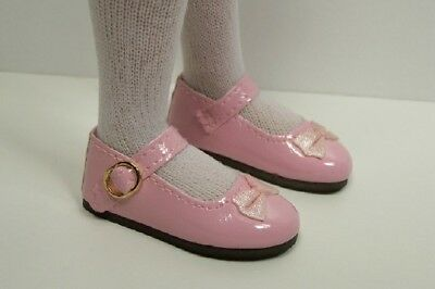 "NAVY BLUE Patent MJ w//Bow Doll Shoes For 14/"" Kish Chrysalis Lark Raven DEBs"