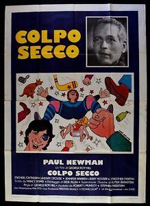 Werbeplakat Schlag Trocken Paul Newman Hockey Auf Eis George Roy Hill M255