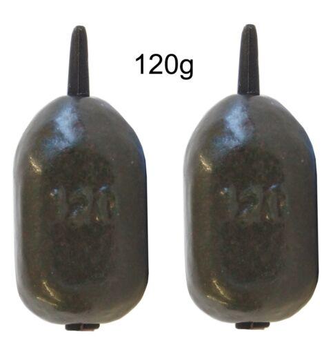 2 Karpfenbleie Pelzer Inline Bomb Bleie Angelblei für Karpfenmontagen