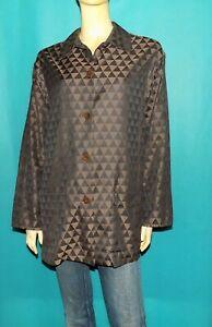 KENZO chemise longue vintage en coton marron et noir taille 40/42 fr