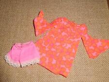 Vintage Mod Talking PJ BARBIE Original Outfit . Mod Mini w/Shorts . c1969