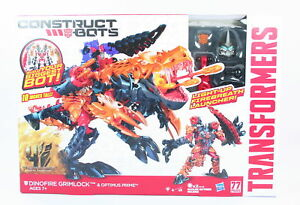 Transformers-Age-of-Extinction-Construct-Bots-DINOFIRE-GRIMLOCK-playset-NEW